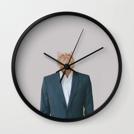 Business Cat Wall Clock