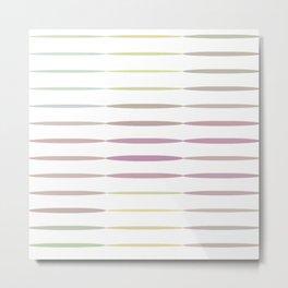 Multicolor Geometric Strips  Metal Print