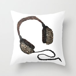 Put Your (Vintage) Headphones On - Abstract Throw Pillow