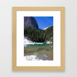 Winter Photography: Mirror Lake, Banff, Canada Framed Art Print