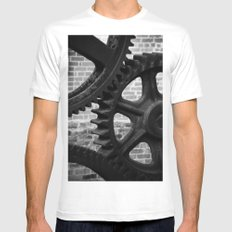 Iron White SMALL Mens Fitted Tee