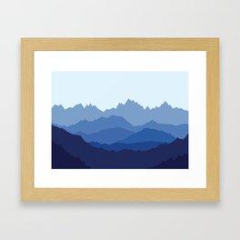Blue Mountain range Framed Art Print