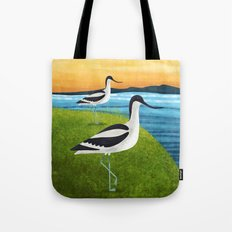 Two Avocets In Suffolk Tote Bag