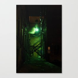 GreenLit Alley Canvas Print