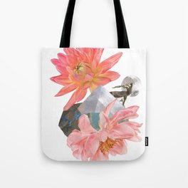 Gazelle and Flowers Tote Bag