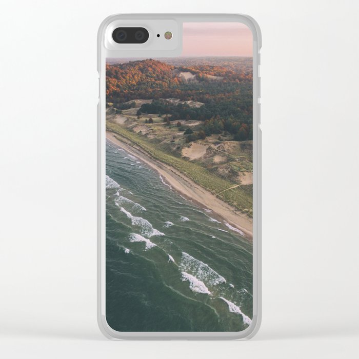 Coastal Sunset - Pink Sky Clear iPhone Case