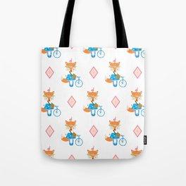 Girl Fox with Pink Diamond Tote Bag