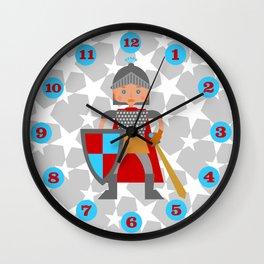 Brave medieval knight Wall Clock