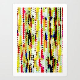 bohemian abstract pattern Art Print