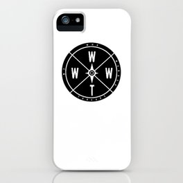 We Who Wander Compass iPhone Case