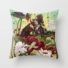 DREAMING AVA. Throw Pillow