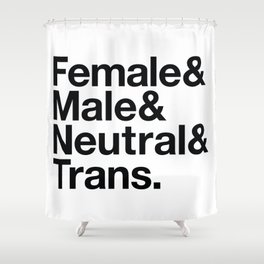 All Equal Genders Shower Curtain