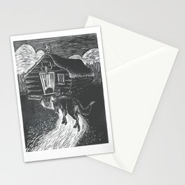 Wolf Going to Grandma's House Stationery Cards