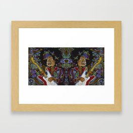 Double Jimi Framed Art Print