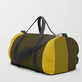 Dark Yellow Square Design Duffle Bag