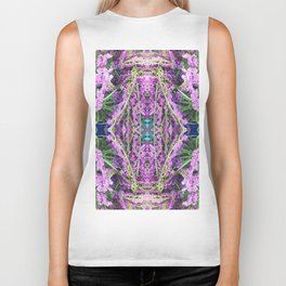 302 - Abstract Lilac Design Biker Tank