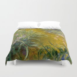 "Claude Monet ""The Path through the Irises"", 1914-1917 Duvet Cover"