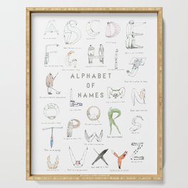 Alphabet of names Serving Tray