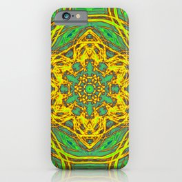 Signs of spring fractal kaleidoscopes iPhone Case