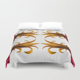 Rasberry and Pineapple Smoothie Duvet Cover