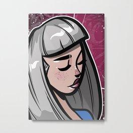 Gray Hair Metal Print
