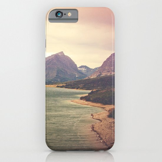 Retro Mountain Lake iPhone & iPod Case