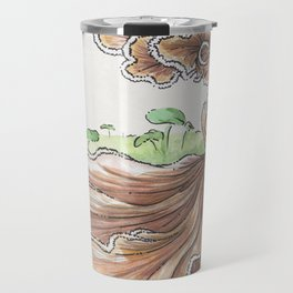Empire of Mushrooms: Schizophyllum commune Travel Mug
