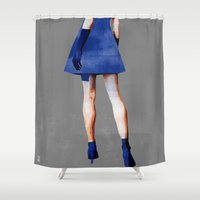 dress Shower Curtains featuring Blue Dress by Ed Pires