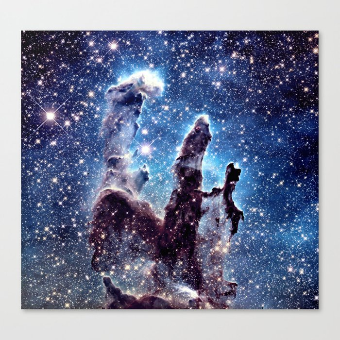 Pillars of Creation Smokey Blues Canvas Print