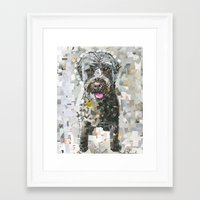 ginger Framed Art Prints featuring Ginger by Maritza Hernandez