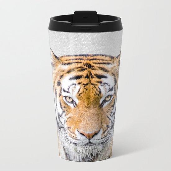 Tiger - Colorful Metal Travel Mug