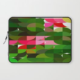 Pink Roses in Anzures 5  Abstract Circles 1 Laptop Sleeve