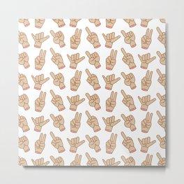 Expressive Hands Metal Print