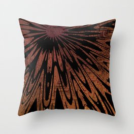 Native Tapestry in Burnt Umber Throw Pillow