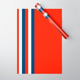 Retro Stripes Pop Art - Red White Blue Wrapping Paper