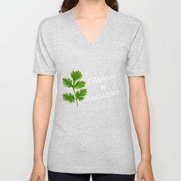 Cilantro Or Coriander   Funny Herb Unisex V-Neck