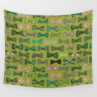 bow Wall Tapestries featuring Bow ties by Akwaflorell