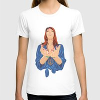 hippy T-shirts featuring Hippy Girl  by Eugene Ovchar
