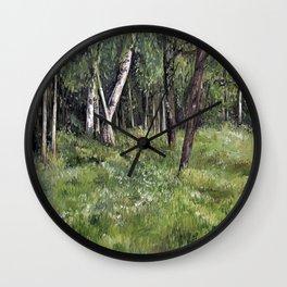 Woodland Forest Landscape Nature Art Wall Clock