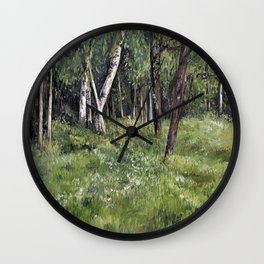 Woodland Forest Landscape Nature Art Wall Clock