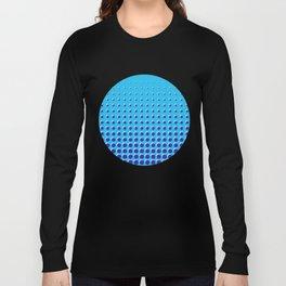 Blue on blue grid - Optical game 14 Long Sleeve T-shirt