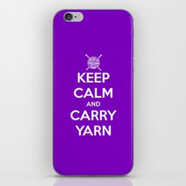 Keep Calm and Carry Yarn - Purple solid iPhone Skin