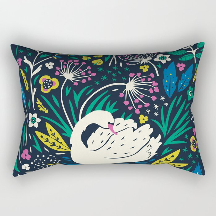 Wild Swan Rectangular Pillow