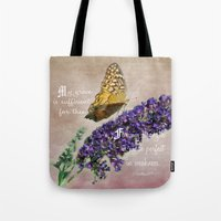 bible verse Tote Bags featuring Amazing Grace - Verse by Anita Faye