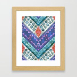 Jirra Boho Chevron {1A} Framed Art Print