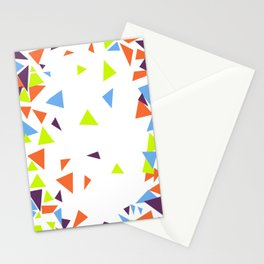Colorful Triangles Stationery Cards