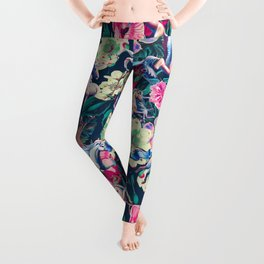 Unicorn and Floral Pattern Leggings