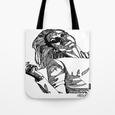 B&W Fashion Illustration - Kate Tote Bag