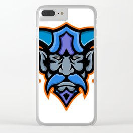 Hades Greek God Head Mascot Clear iPhone Case