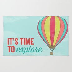 IT'S TIME TO EXPLORE- HOT AIR BALLOON Rug